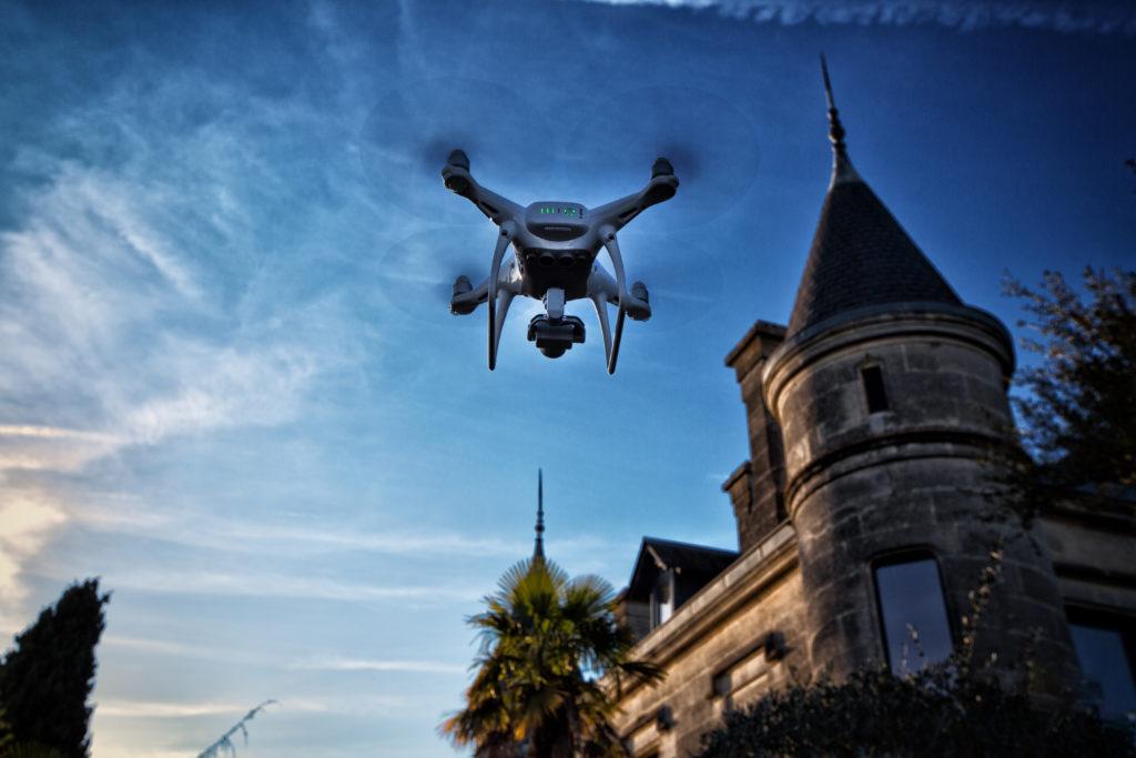 Photographie par drone du Château Lagrave